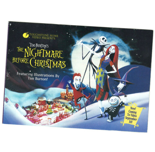 Disney Nightmare Before Christmas 1994 Video Release Promotional Booklet 15 pgs