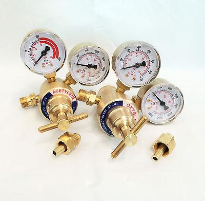 Solid Brass Welding Fit Victor Gas Torch Cutting Oxygen Acetylene Regulators
