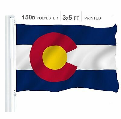 Colorado State Flag 150D Printed Polyester 3x5 Ft