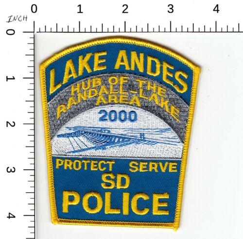 LAKE ANDES SOUTH DAKOTA POLICE 2000 SHOULDER PATCH SD