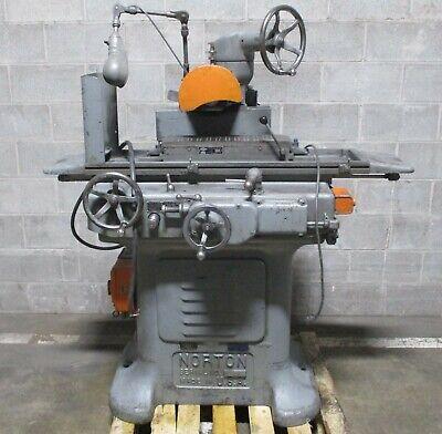 Norton Hydraulic Surface Grinder W 6 X 18 Magnetic Chuck War Ordnance Plate