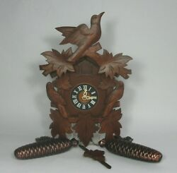 Vtg German REGULA CUCKOO CLOCK E Schmeckenbecher 34/1/78 8-Day Movement RUNS