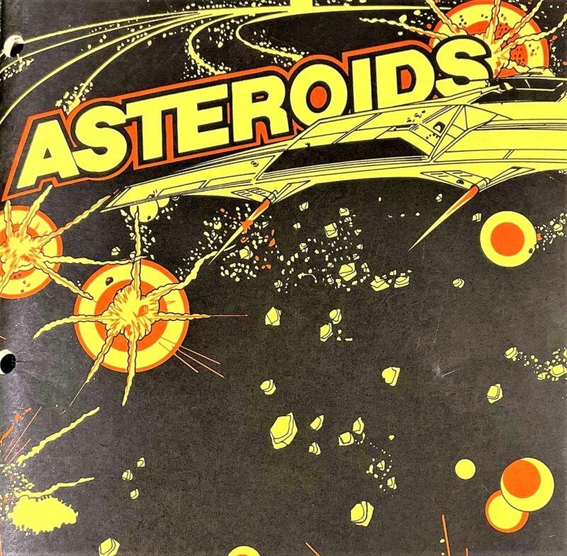 Atari Asteroids Arcade Game Machine Operation Service Manual with Schematics