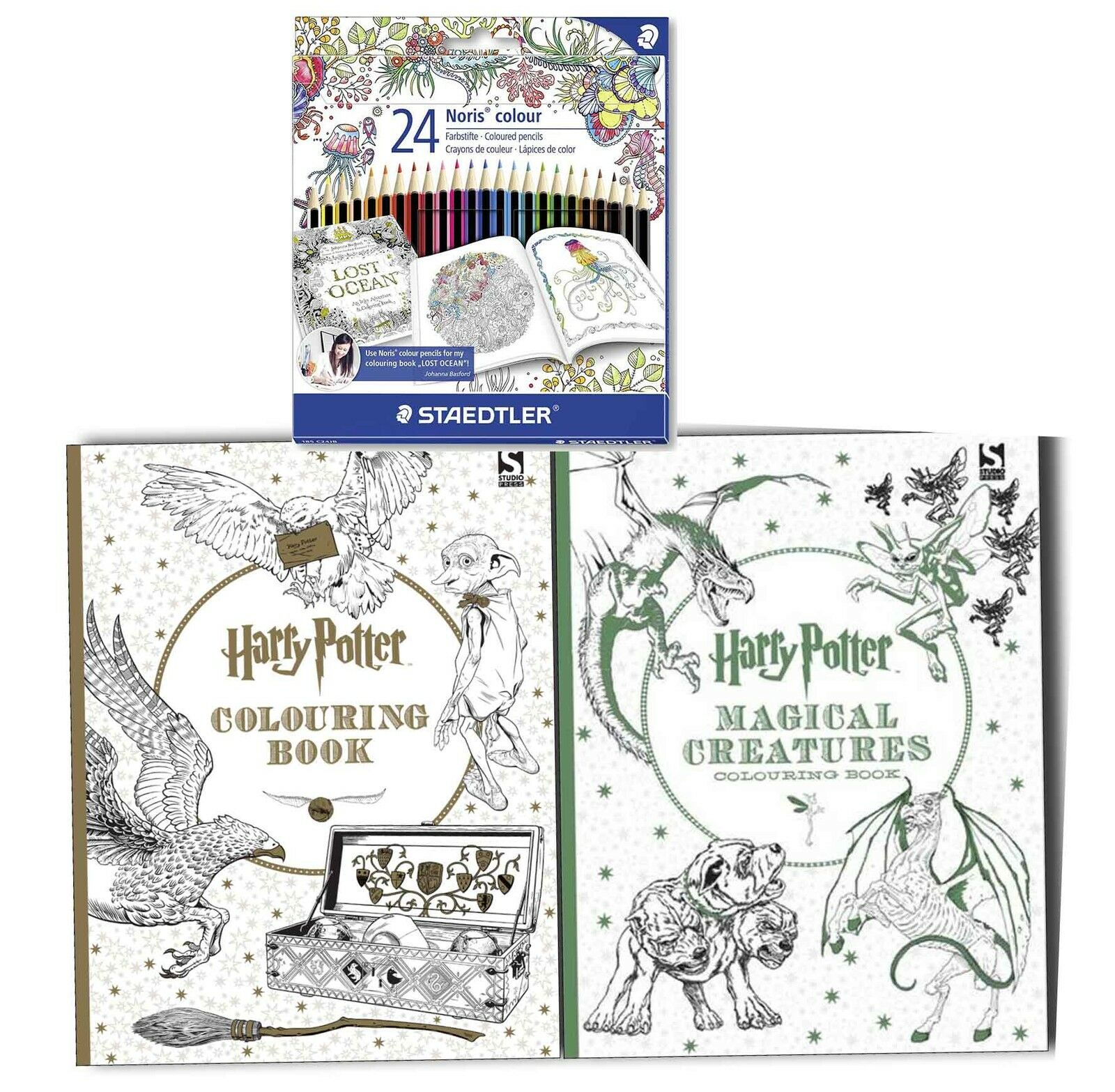 Harry Potter Book Lengths Pages : Harry potter colouoring books with staedtler colour
