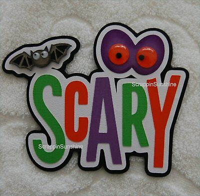 Scary Halloween Titles (HALLOWEEN Scary Die Cut Title Scrapbook Page Paper Piece -)