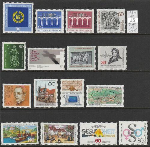 Germany 1984 NH 16 diff Commemorative 2018 cv 20.65 Lot FF