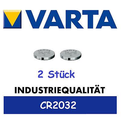 2x Original Varta CR2032 Batterien Knopfzellen Knopfzelle Frische Markenqualität 2 Cr2032 Batterien