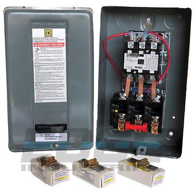 Square D Electric Motor Starter Control 10hp 40a 3ph 208-230v 8911dpsg43v09