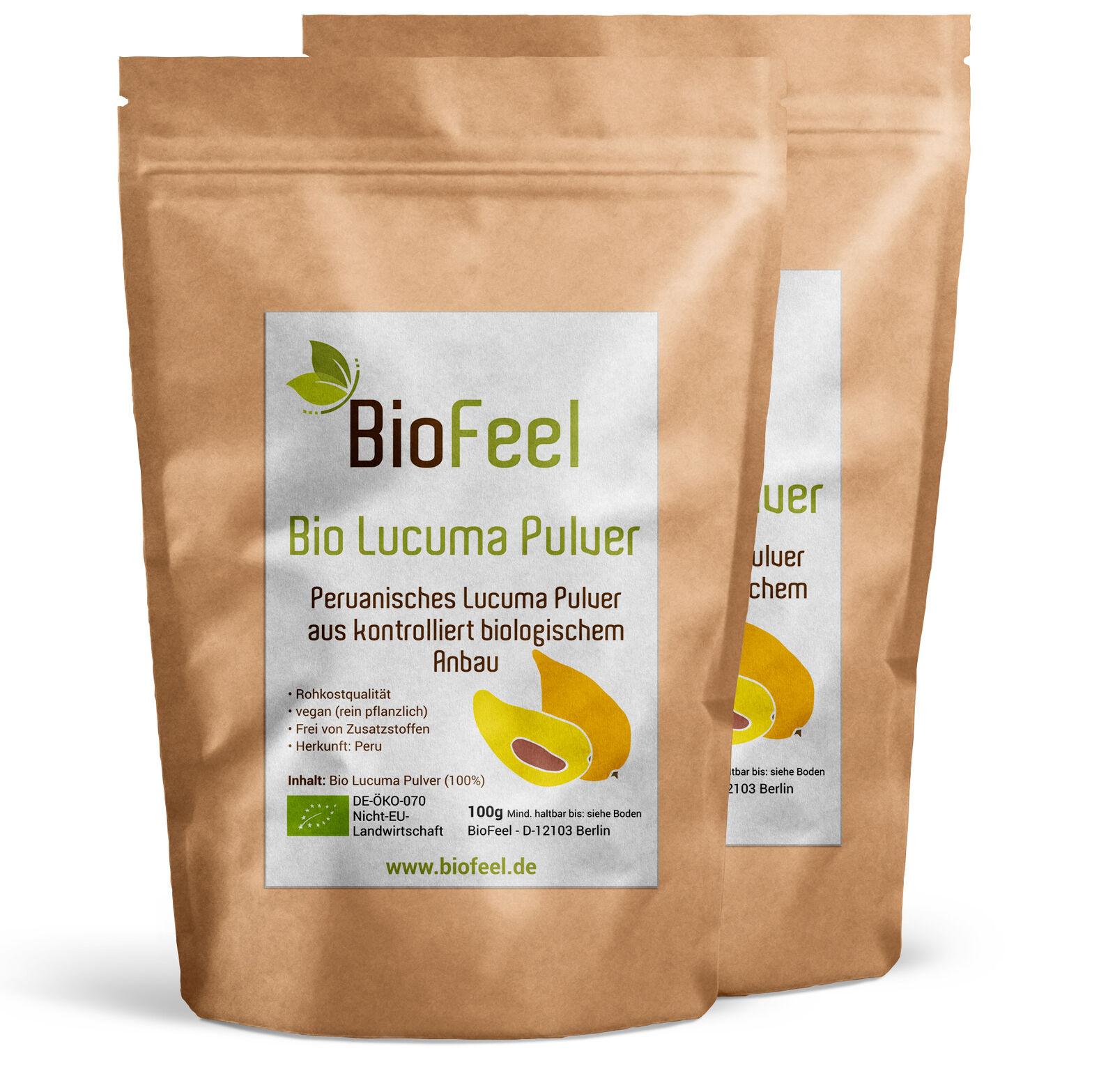 BioFeel - Bio Lucuma Pulver, 200g (2x 100g)