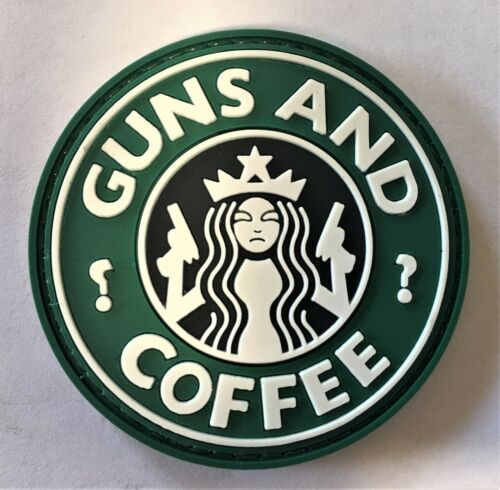 PVC Guns & Coffee Patch Hook & Loop SEAL MARSOC Special Forces Green Beret    62