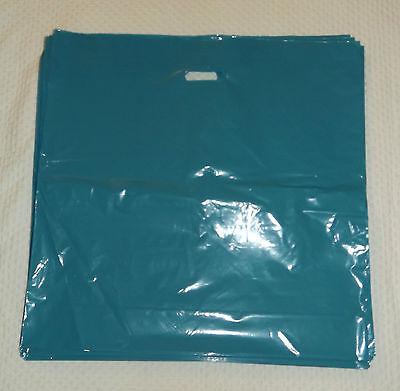 Glossy Jumbo Teal Shopping Merchandise Bags 20x20x5 Lot 25