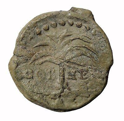 France Nimes 1600-1700 AD Lead Hosiery Cloth Seal Tree Crocodile PB14 Egan.346