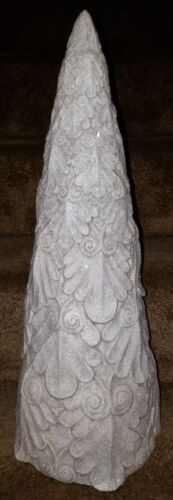Christmas Tree White Frosted Glittered Floral 22 Inches 7800 312