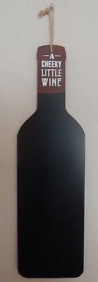 WINE BOTTLE SHAPE WALL HANGING - Chalkboard Wine Bottles