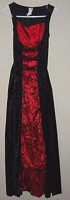 womens DELUXE DEVIL HALLOWEEN COSTUME DRESS ring hoop bottom 1 size FANCY velvet