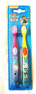 Paw Patrol Girl (Girls Paw Patrol Twin Pk Manual Toothbrushes  3 Yrs + New Free P+P)