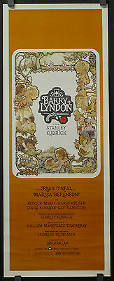 BARRY LYNDON 1975 ORIGINAL 14X36 MOVIE POSTER RYAN O'NEAL MARISA BERENSON