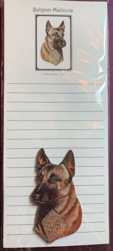 Belgian Malinois Notepad and Wood Magnet