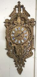 S. Marti 19th Century Medaille De Bronze French Antique Wall Clock - 1800's