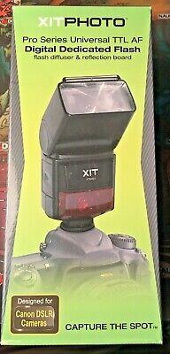Xit Photo Pro Series Universal Ttl Af Digital Dedicated Flash Canon DSLR Cameras Series Digital Photo