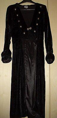 The Dark Angel Design Co. Samtmantel Samt Mantel black Gr. M  L Gr. 40 42 - Dark Black Angel Kostüm