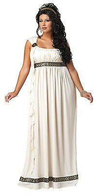 Olympic Goddess Toga Greek Roman 300 Adult Plus Size Costume (Adult Greek Goddess Costume)