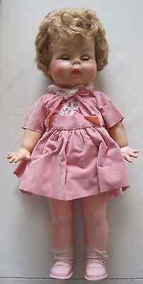 """old doll vintage 18"""" pink"""