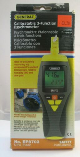 General EP8703 Calibratable 3-Function Psychrometer - NEW IN BOX!!