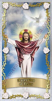 Jesus Ascension (Ascension of Jesus Catholic Holy prayer Card. Jesus)