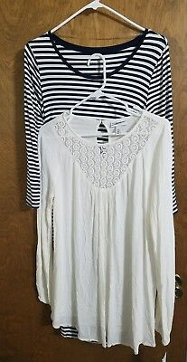 NEW size SMALL Liz Lange Maternity Women's dress & Cream loose top CUTE!!