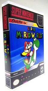 CASE & ART for Super Mario World Super Nintendo SNES Collectors Box Game Case