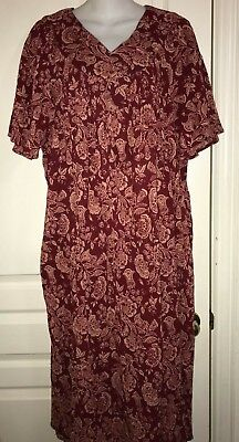 New Phases Kaftan Dress Home Wide Casual Short Sleeve 100% Cotton Size L  for sale  Shipping to India