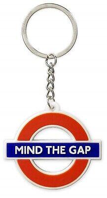 London Underground Roundel MIND THE GAP Rubber Keyring (gwc)