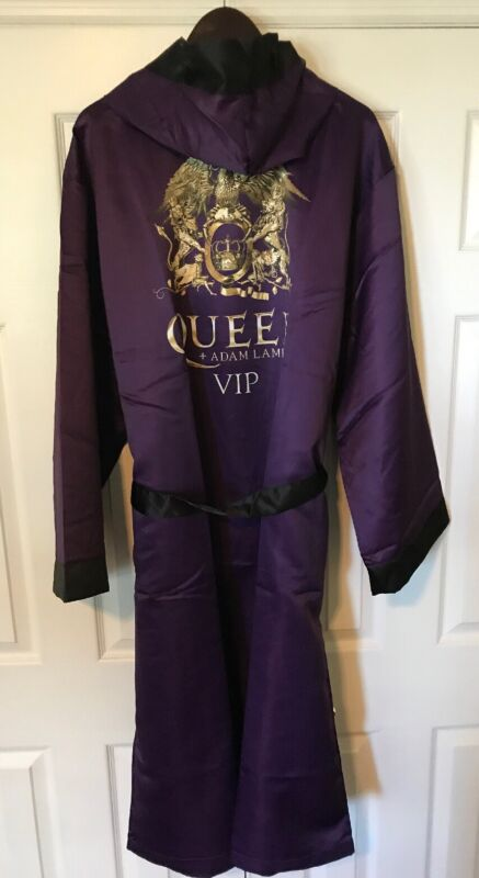 Queen And Adam Lambert VIP Merchandise Lounging Boxer Robe With Hood