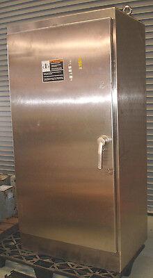 New Large Standup 72x36x24 Hinged Door Nema 3r 4x 12 Stainless Steel Enclosure