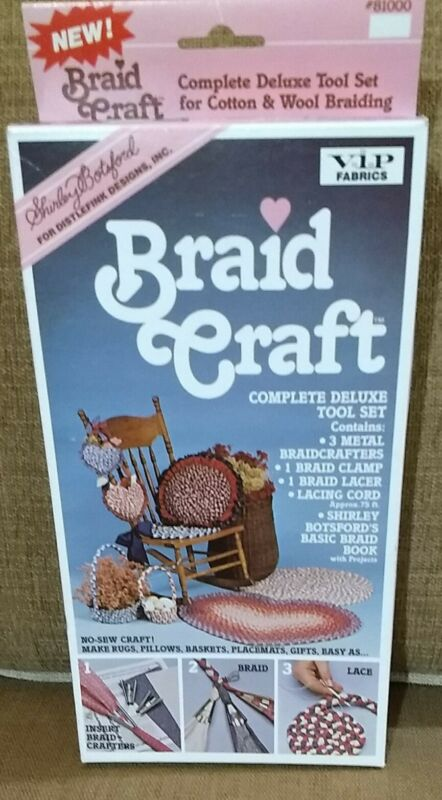 Shirley Botsford Braid Craft Rug Craft Kit 1987 Deluxe Tool Set #81000