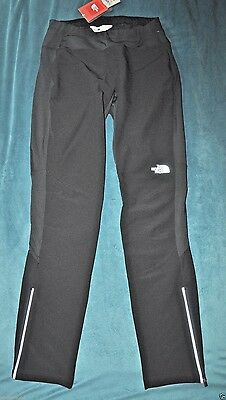 New The North Face RUNNING training pants XS APEX Aerobic Black reflective $120 - North Face Running Pant