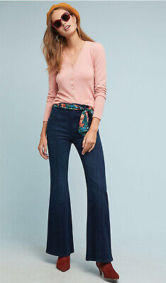 NWT Anthropologie Pilcro Ultra High Rise Bootcut Seamed Stretch Jeans 32 x 33