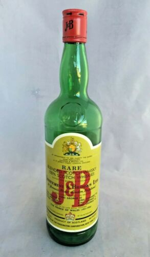 Vintage Rare J & B Blended Scotch Whisky Bottle