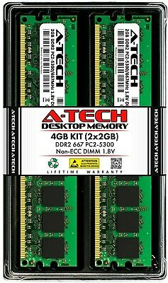 A-Tech 4GB 2 x 2GB PC2-5300 Desktop DDR2 667 MHz 240pin DIMM Memory RAM 2x 2G