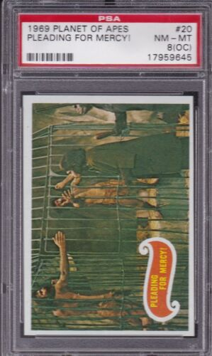 1969 Topps Planet of the Apes #20 PLEADING FOR MERCY! PSA 8 (OC) NM/MT