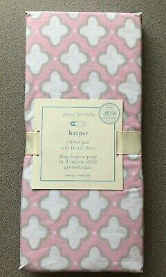 Pottery Barn Baby Kids Harper Botanical Crib Sheet Pink