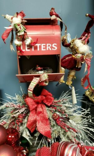 Decorated Christmas Metal Mailbox