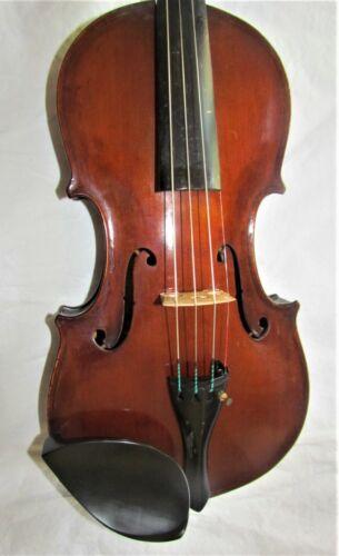 Old 4/4 size violin labeled EDMUND PAULUS, MARKNEUKIRCHEN 1898