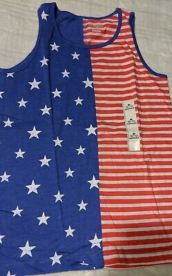 Cat & Jack Girls Red White Blue Patriotic holidays 4th of July Tank Top - Red Girls Tank Top