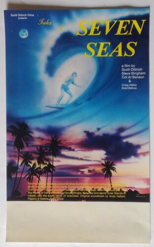 """ORIG 1981 """"Tales of The Seven Seas"""" Scott Dittrich SURF MOVIE POSTER 10"""" x 17"""""""