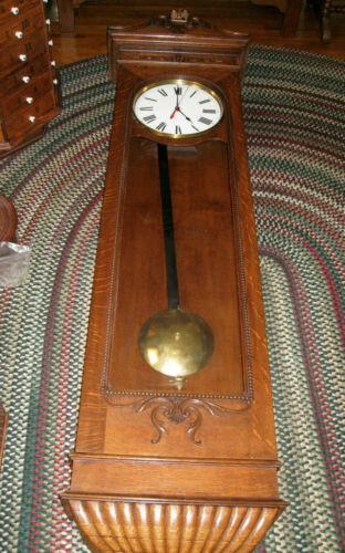 Antique #1 NEW YORK STANDARD WATCH COMPANY WALL CLOCK REGULATOR.