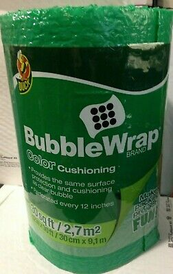 Duck Brand Green 30 Length X 12 Wide Color Cushioning Bubble Wrap Perforated