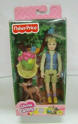 NEW! Fisher Price Loving Family Dollhouse CAMPERS MOM & DEER WOMAN TULIP BASKET