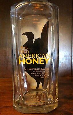 American Honey Whiskey - EMPTY LIQUOR BOTTLE American Honey Wild Turkey Whiskey 750ml Lawrenceburg, KY